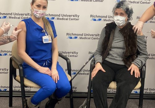 'My mom is watching over us:' RUMC nurse and her grandmother are both vaccinated against COVID-19