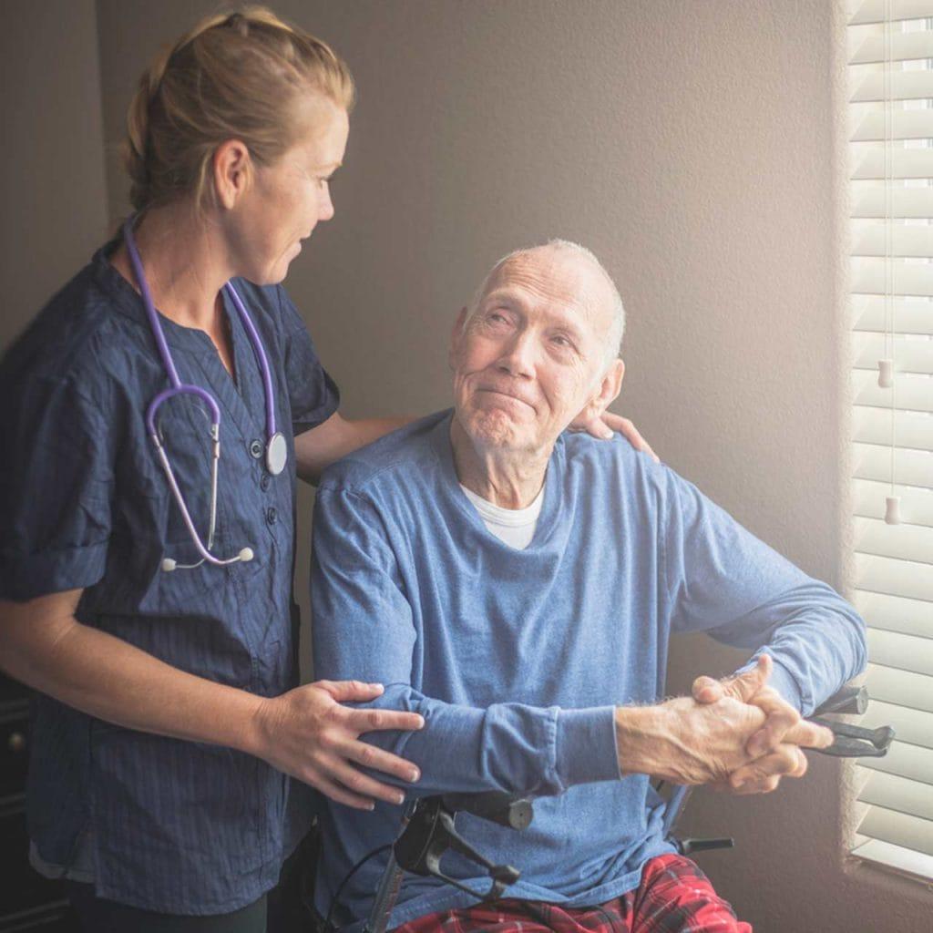 Caregiver and Patient.